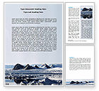Nature & Environment: Arctic Word Template #06733