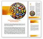 Global: Stock Photo World Word Template #06747