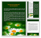 Nature & Environment: Daisy Meadow Word Template #06748