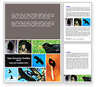 Agriculture and Animals: Free Blackbird Word Template #06751