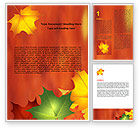 Nature & Environment: Autumn Leaves Theme Word Template #06756
