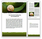 Agriculture and Animals: Snail Shell Word Template #06761
