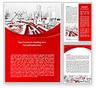 Construction: Abstract City Collapse Word Template #06774
