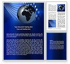 Global: Globe in Blue Word Template #06784