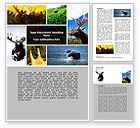 Agriculture and Animals: Moose Word Template #06785