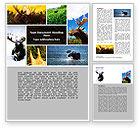 Agriculture and Animals: Elch Word Vorlage #06785