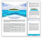 Careers/Industry: Atoll Reef Word Template #06787