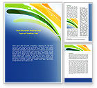 Abstract/Textures: Green and Yellow Touch Word Template #06789