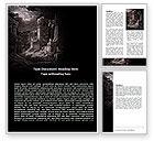 Religious/Spiritual: Modèle Word de ruines antiques #06790