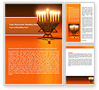 Holiday/Special Occasion: Menorah Word Template #06791
