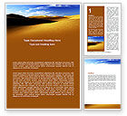 Nature & Environment: Sand Dune Word Template #06793