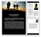 Sports: Backpacking On The Mountain Word Template #06795