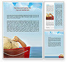 Careers/Industry: Lady On The Beach Word Template #06799