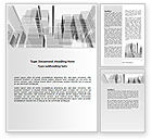 Business: Abstract Architecture Word Template #06803