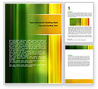 Abstract/Textures: Green and Yellow Theme Word Template #06806
