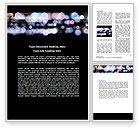 Abstract/Textures: Plantilla de Word - efecto bokeh #06811