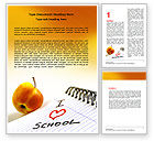 Education & Training: Loving School Word Template #06818