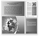 Business Concepts: Global Breakthrough Word Template #06819
