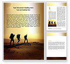 Sports: Backpacking In Sands Word Template #06820