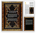 Religious/Spiritual: Gold Pressing Word Template #06821