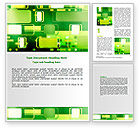 Abstract/Textures: Green Boxes Word Template #06833