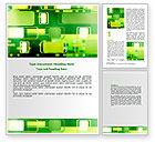 Abstract/Textures: Groene Vakjes Word Template #06833