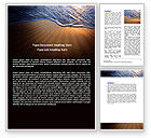 Careers/Industry: Sea Sand On The Sunset Word Template #06835