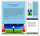 Consulting: Golf Ball Word Template #06837