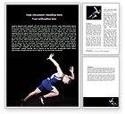 Sports: Modelo do Word - começo difícil do corredor #06839