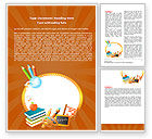 Education & Training: School Leren Theme Word Template #06841