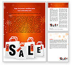 Careers/Industry: Christmas Sale Word Template #06843