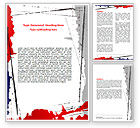 Abstract/Textures: Blood Splatter Theme Word Template #06844
