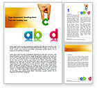 Education & Training: Childish Letters Word Template #06849