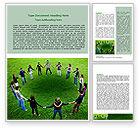 Religious/Spiritual: Round Circle Word Template #06852