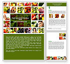 Food & Beverage: Nutrition Word Template #06856