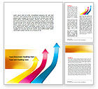 Business Concepts: Rates Rise Word Template #06859