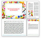Education & Training: Childish Frame Word Template #06861
