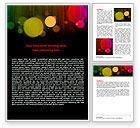 Abstract/Textures: Regenbogen bokeh Word Vorlage #06863
