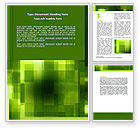 Abstract/Textures: Green Geometric Theme Word Template #06868