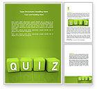 Education & Training: Quiz Word Template #06875