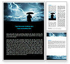 Consulting: Stormy Times Word Template #06884