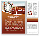 Business Concepts: Speed Limit Word Template #06886