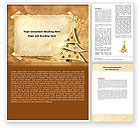 Holiday/Special Occasion: New Year Theme Word Template #06894