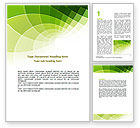 Abstract/Textures: Abstract Green Sections Word Template #06895