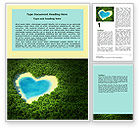 Careers/Industry: Heart Lake Word Template #06896