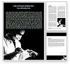 Medical: Surgery In Black And White Word Template #06899