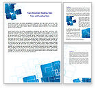 Abstract/Textures: Blue and White Clean Word Template #06901