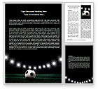 Sports: Football Stadium In The Night Word Template #06916
