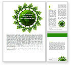 Nature & Environment: Free Green World Word Template #06918