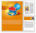Education & Training: School Bag Word Template #06920